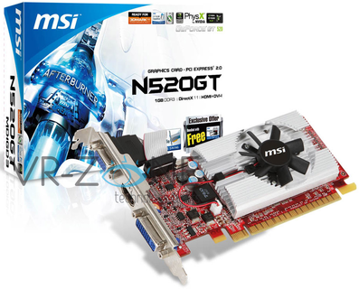 MSI GeForce N520GT (NVIDIA GeForce GT 520)