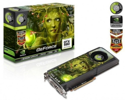 Видеокарты Point of View и TGT GeForce GTX 580 с 3 ГБ памяти